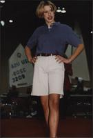 Polo shirt and shorts during the Boat Show Fashion Show
