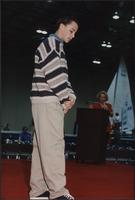 Jay Boothman wearing a sweater and khakis during the Boat Show Fashion Show
