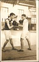Postcard - Two students boxing