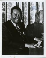 Photo of Jay McShann at the piano