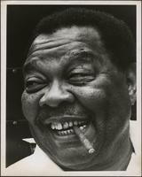 Close up photo of Jay McShann with a cigarette