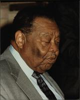 Jay McShann with closed eyes