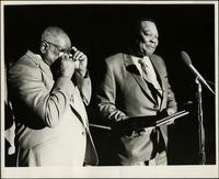 Jay McShann receiving an award at the Wichita Jazz Festival