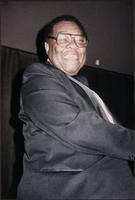 Jay McShann smiling from the piano