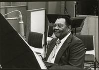 Jay McShann in a recording studio