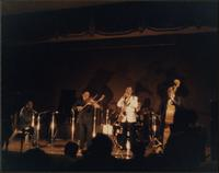 Jay McShann and others on stage during a IAJRC concert