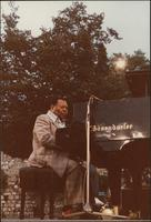 Jay McShann playing piano outside in Nice, France