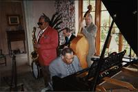 Jay McShann, Terry Hughes, Ahmad Alaadeen, and Gerald Spaits performing