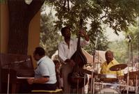 Jay McShann playing at an outdoor concert