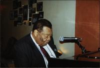 Jay McShann playing piano in Bern