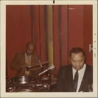Jay McShann on stage with Paul Gunther