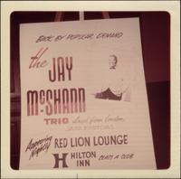 Poster advertising a performance of the Jay McShann Trio