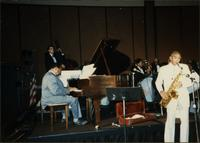 Jay McShann performing with Eddie Baker's New Breed Orchestra