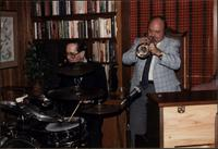 Terry Hughes performing with unidentified trumpet player