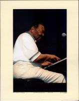 Jay McShann playing piano at the KC Jazz & Blues Fest