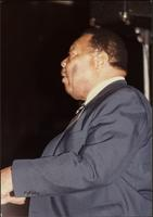 Close up of Jay McShann playing piano