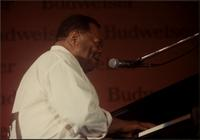 Jay McShann playing piano and singing in Japan