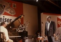 Jay McShann on stage with Joe Williams in Japan