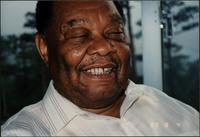 Close up of Jay McShann smiling