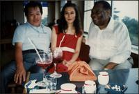 Jay McShann with unidentified Japanese couple
