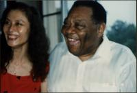 Jay McShann laughing with unidentified woman