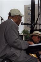 Jay McShann and Duke Robillard on stage
