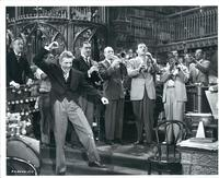 Danny Kaye leading band of Benny Goodman, Tommy Dorsey, Charlie Barnet, Louis Armstrong, and Lionel Hampton