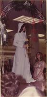 Stevens model wears a hooded bridesmaid's gown during a spring bridal showing at Indian Springs Shopping Center