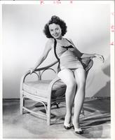 Connie Haines on a beach chair