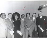 Count Basie, Jimmy Cagney, Ginger Rogers, Lionel Hampton, Artie Shaw, Tommy Dorsey, and Don Wilson