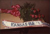 winner's bouquet and sash for the Miss Kansas USA 1983 pageant