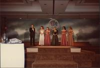 Master of Ceremonies announcing during the Miss Kansas USA 1983 pageant