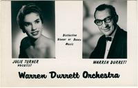 Postcard for the Warren Durrett Orchestra with Julie Turner