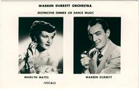 Postcard for the Warren Durrett Orchestra with Marilyn Mayes