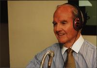 George McGovern in the studio during an episode of The Walt Bodine Show on KCUR