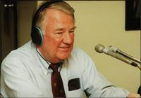 Edwin Meese in the studio during and episode of The Walt Bodine Show on KCUR