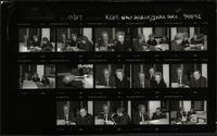 Contact sheet with multiple images of Walt Bodine, Robert H. Bork, and Mary Ellen Bork