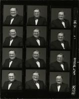 Contact sheet with twelve portraits of Walt Bodine