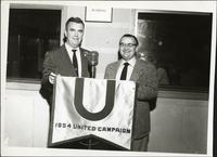 Walt Bodine and Randall Jessee at an event for the 1954 United Campaign