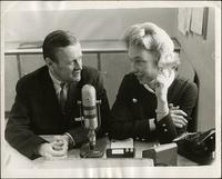 Walt Bodine and Jean Glenn broadcast at a WDAF studio