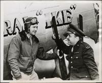 Ted Malone about to fly in the General Ike