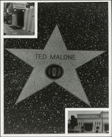 Ted Malone's Hollywood Walk of Fame star