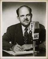 Ted Malone publicity photograph for ABC