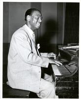 Earl Hines playing piano