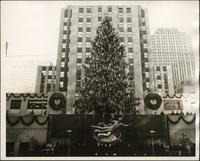 Rockefeller Center's Christmas tree with icicle decorations