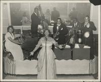 Myra Taylor sings with the Curtyse Foster Band