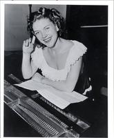 Ella Mae Morse at the piano