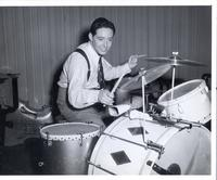 Andy Russell playing drums