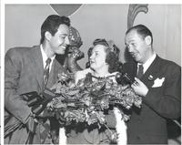 Andy Russell, Evelyn Gibson, and Jack Bailey