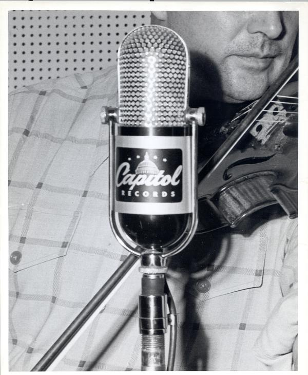 Capitol Records microphone | Digital Special Collections